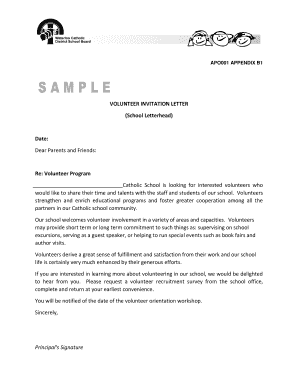 sample letter requesting volunteers for event