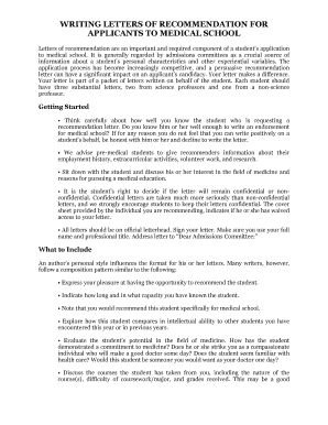 Printable no letters of recommendation for medical school - Edit ...