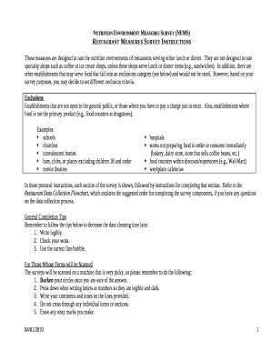 editable restaurant customer satisfaction survey examples form