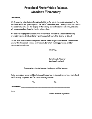 video release form template