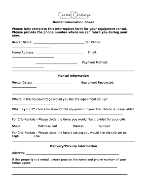 Rental Application Form Template  Application Forms Template