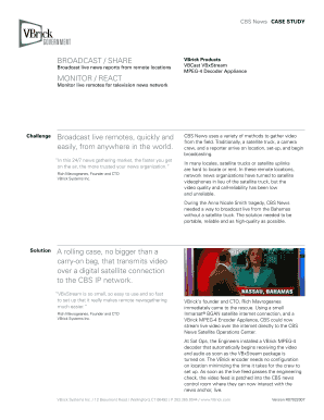 Fillable Online CBS News CAse study Fax Email Print - PDFfiller