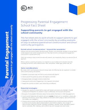Supporting parents to get engaged with the school community