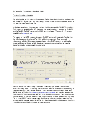 Fillable Online Contest Simulator Update Fax Email Print - PDFfiller