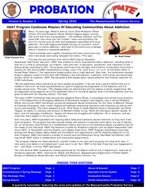 massachusetts probation drug testing - Editable, Fillable