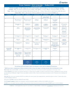 Texas / Course Schedule - BARBRI Bar Review Fill Online