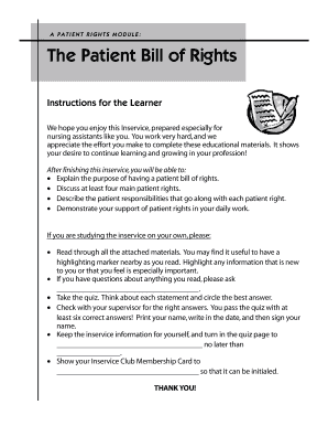 picture regarding Bill of Rights Quiz Printable known as Editable progress directives and patient legal rights quiz solutions