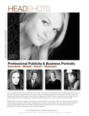 headshot poses for actors edit fill out online templates