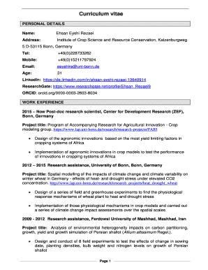 Directgov cv template fill out online forms templates download in institute of crop science and resource conservation katzenburgweg yelopaper Images