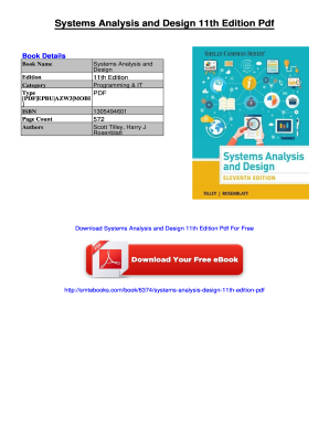 Systems Analysis And Design 11th Edition Pdf Fill Online Printable Fillable Blank Pdffiller