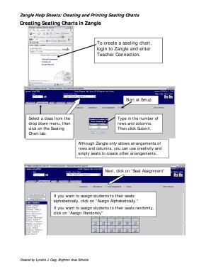 zangle help sheets creating and printing seating charts fill online