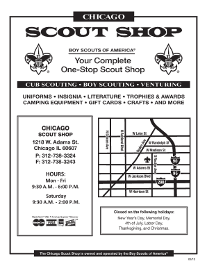 Fillable Online One-Stop Scout Shop Fax Email Print - PDFfiller