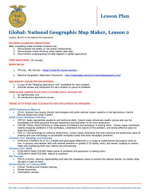 Fillable Online Global: National Geographic Map Maker, Lesson 2 Fax ...