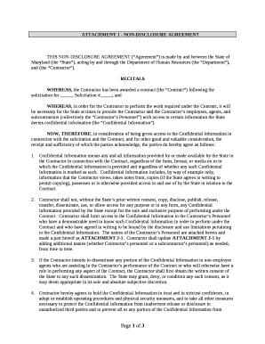 Attachment J Non Disclosure Agreement Doc Template Pdffiller