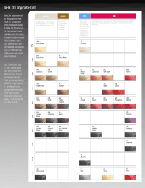 Fillable Online Wella Color Tango Shade Chart Fax Email Print