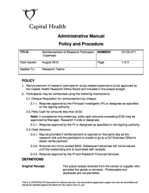 reimbursement form word