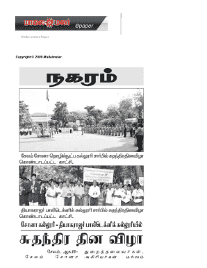 Fillable Online Tamil Newspapers : ????? ??????????????? Fax