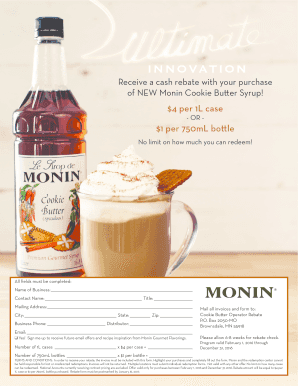 f697e1a1a51 Fillable Online of NEW Monin Cookie Butter Syrup Fax Email Print ...