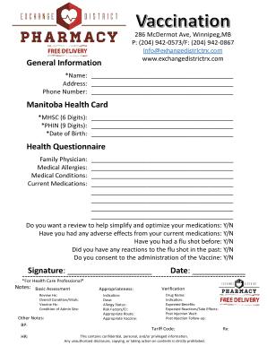 Fillable Online 286 McDermot Ave, Winnipeg,MB Fax Email Print - PDFfiller