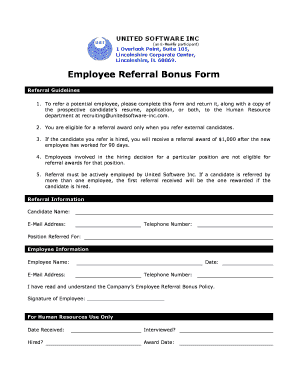 employee referral form template word