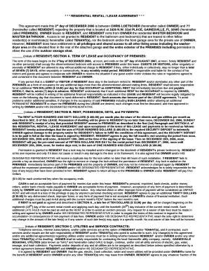 florida rental lease agreements