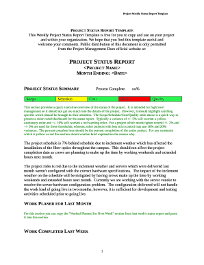 project status report template - fillable & printable top business, Powerpoint templates