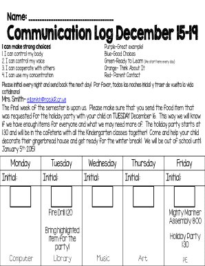 communication log example - Fillable & Printable Templates to ...