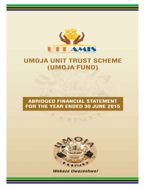 Fillable Online UMOJA UNIT TRUST SCHEME Fax Email Print