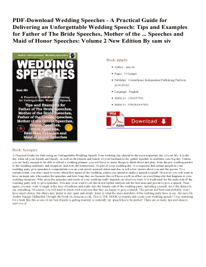 Printable hilarious wedding speeches - Fill Out & Download