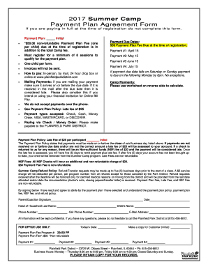 Editable Payment Plan Agreement Template Doc Fill Out