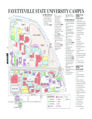 fayetteville state university campus map Fillable Online Fayetteville State University Campus Fax Email fayetteville state university campus map