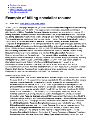High Quality Billing Specialist Resume  Billing Specialist Resume