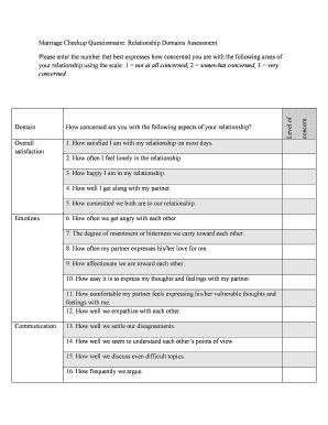 assessment questionnaire template