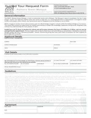 Guided Tour Request Form