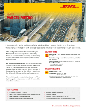 dhl ecommerce track - Fill Out Online, Download Printable