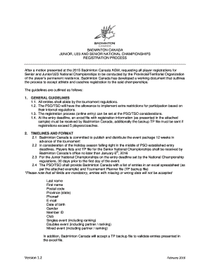badminton tournament proposal sample - Edit & Fill Out Top Online
