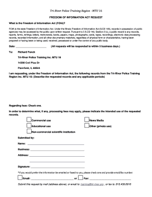 Fillable Online Tri-River Police Training Region - MTU 16 Fax Email