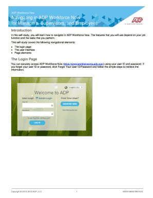 adp employer login - Edit Online, Fill Out & Download