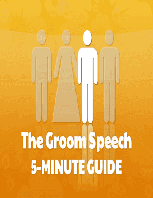 Printable groom speech short and sweet - Fill Out & Download