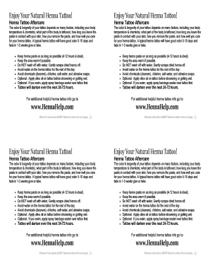 Printable free printable tattoo aftercare instructions - Edit, Fill ...
