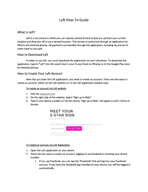 graphic regarding Lyft Printable Logo identified as lyft driver agreement - Editable, Fillable Printable Prison