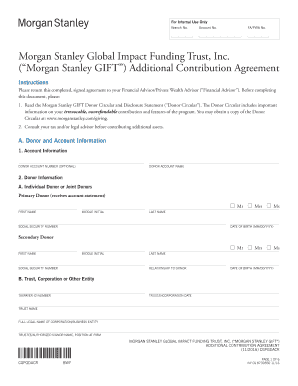 Fillable Online MorganStanley Global Impact Funding Trust, Inc Fax
