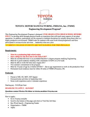 TOYOTA MOTOR MANUFACTURING, INDIANA, Inc