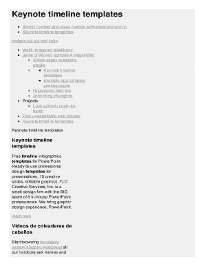 Keynote Timeline Templates Fill Online Printable Fillable Blank - Keynote timeline template