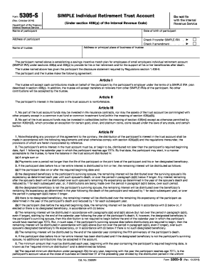 form 5305 simple 1998 2016