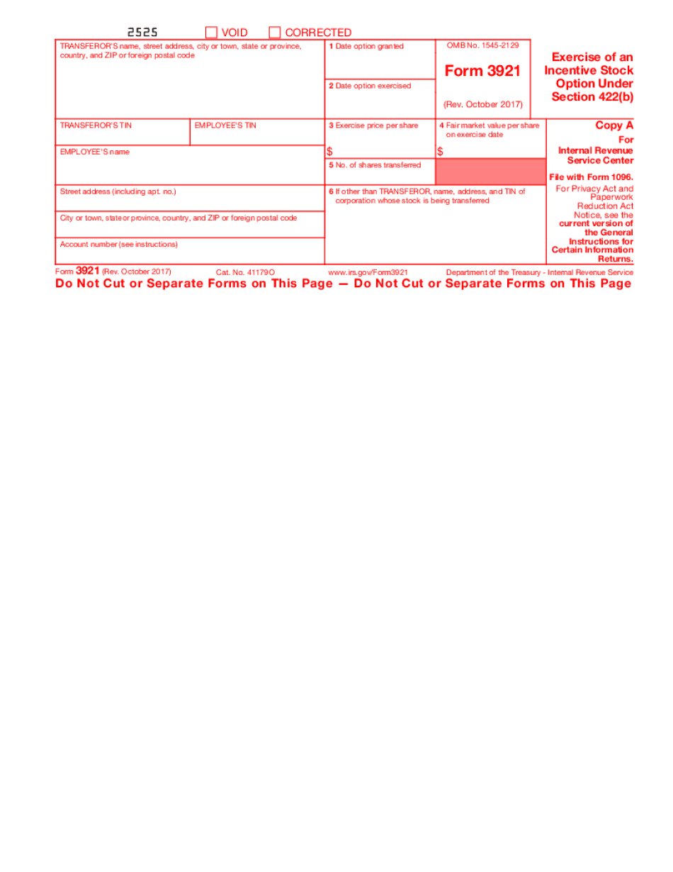 electronic filing of form 3921