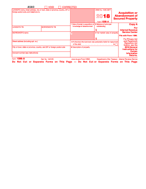 1099a 2018 form