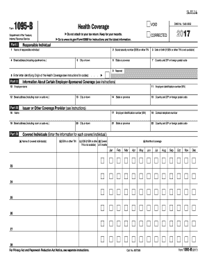2017 Form IRS 1095-B Fill Online, Printable, Fillable, Blank ...
