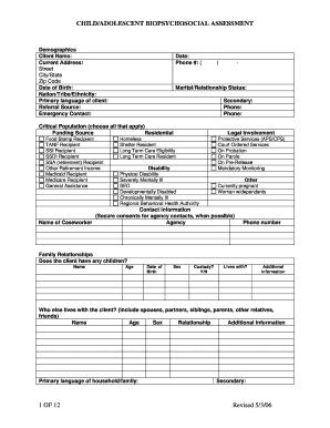 Printable biopsychosocial case formulation example ...