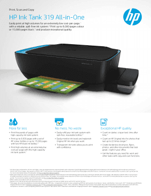 Fillable Online HP Ink Tank 319 All-in-One Fax Email Print - PDFfiller